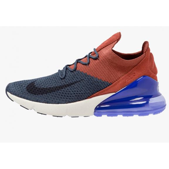 0ef24f4143ec1 Zapatillas Nike Air Max 270 Flyknit azul granate hombre - Deportes Moya