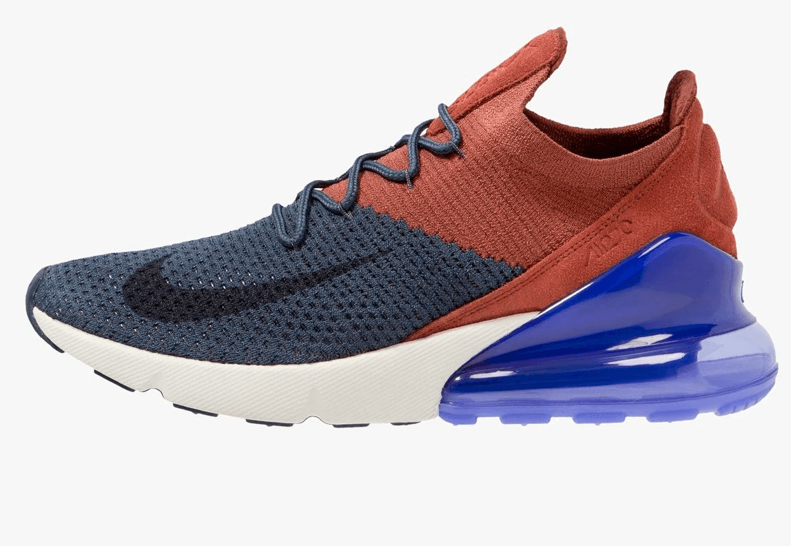 Zapatillas Nike Air Max 270 Flyknit azulgranate hombre