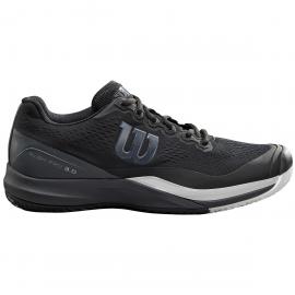 Zapatillas tenis/padel Wilson Rush Pro 3.0 negra/gris hombre