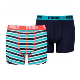 Boxer Puma Basic printed str 2P fluor red/azul junior