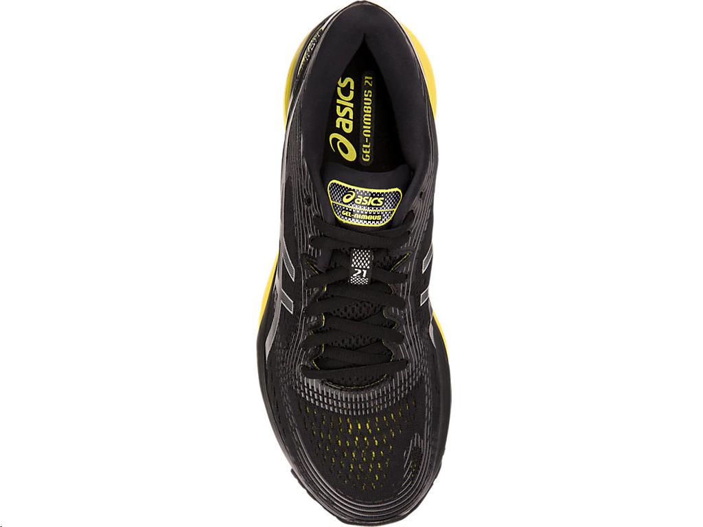 f1d44df29 Zapatillas running Asics Gel-Nimbus 21 negro amarillo hombre - Deportes Moya