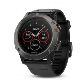 Reloj Gps Garmin Fenix 5X zafiro gris-negro 51mm