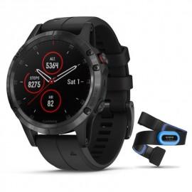 Reloj Gps Garmin Fenix 5 Plus negro 47mm c/tra