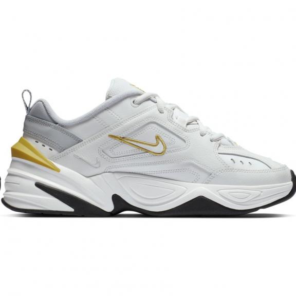 cfaa4221 Zapatillas Nike M2K Tekno blanco/dorado mujer - Deportes Moya
