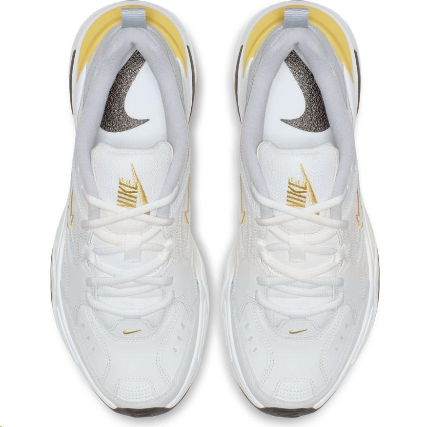 fcf79519a09ee Zapatillas Nike M2K Tekno blanco dorado mujer - Deportes Moya
