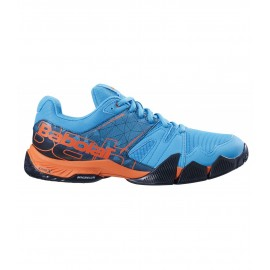 Zapatillas pádel Babolat Pulsa azul/naranja hombre