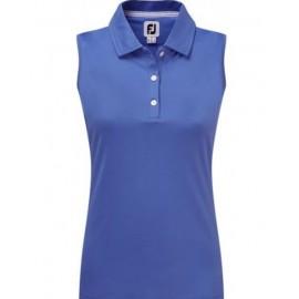 Polo golf Footjoy Intlck azul mujer