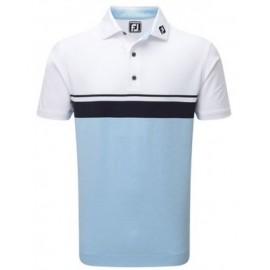 Polo golf Footjoy Leslie blanco/azul hombre