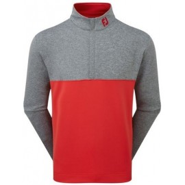 Sudadera Footjoy Chillout roja/gris hombre