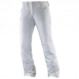 Pantalon Esquí Salomon Nightshade White blanco mujer