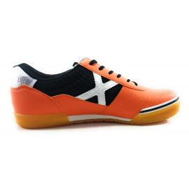 Zapatillas de futbol sala Munich G-3 Mesh 758 naranja hombre