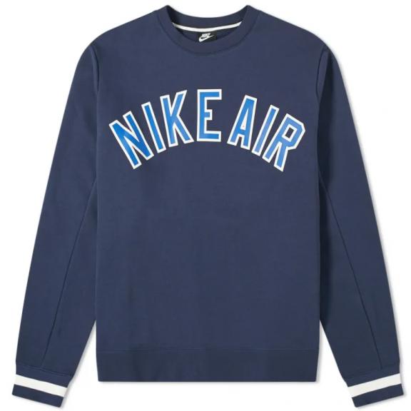 Sudadera Nike Air Crew Fleece azul hombre