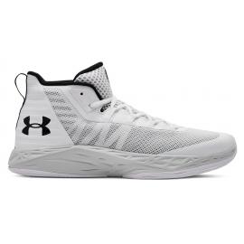 Zapatillas baloncesto Under Armour Jet Mid blanca hombre