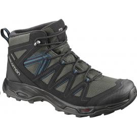 Botas trekking Salomon Hillrock Mid GTX negro/azul hombre