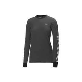 Camiseta térmica Helly Hansen W Active Flow Ls gris mujer