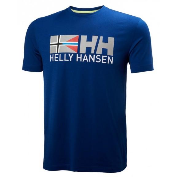Hombre Deportes Manga Rune Azul Moya Camiseta Corta Helly Hansen YE9IWD2ebH