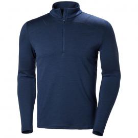 Camiseta térmica Helly Hansen Lifa Merino 1/2 Zip azul