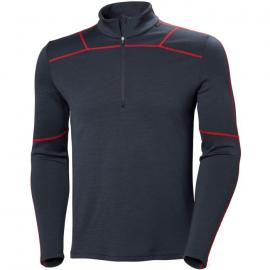 Camiseta térmica Helly Hansen Lifa Merino 1/2 Zip azul rojo