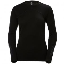 Camiseta térmica Helly Hansen Lifa Merino Crew negro mujer