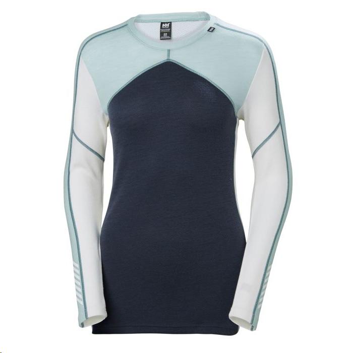 dd87ba33967 Camiseta térmica Helly Hansen Lifa Merino Crew azul mujer - Deportes Moya