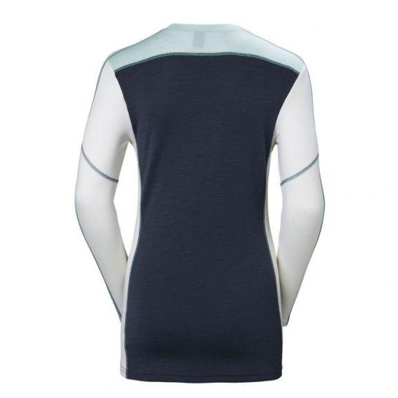 6cf2f61e1eb Camiseta térmica Helly Hansen Lifa Merino Crew azul mujer - Deportes ...