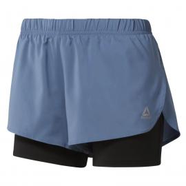 Pantalón Running Reebok 2-in-1 short azul mujer