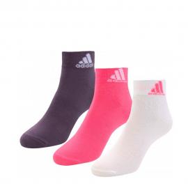 Calcetines adidas Per Ankle T 3p blanco/rosa/burdeos