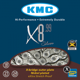 Cadena KMC X8-99 116 Eslabones 8v