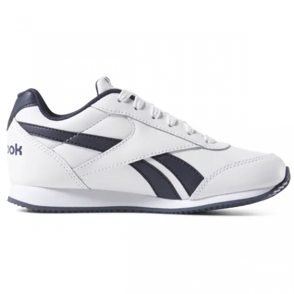 0694f892e Zapatillas Reebok Royal CLJOG blanco azul niño - Deportes Moya