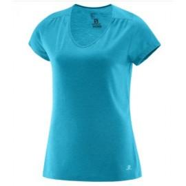 Camiseta Salomon M/C Ellipse azul mujer