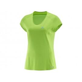 Camiseta outdoor Salomon Comet mujer verde
