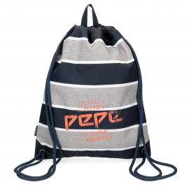 Mochila saco Pepe Jeans Pierre gris/azul