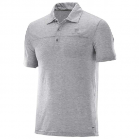 Polo outdoor Salomon Explore Polo gris hombre