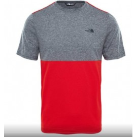 Camiseta M/C The North Face Tansa Block gris/rojo hombre