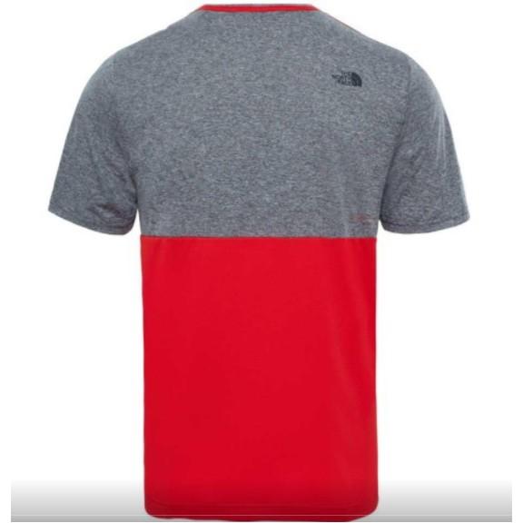 3b171add9 Camiseta M C The North Face Tansa Block gris rojo hombre - Deportes Moya