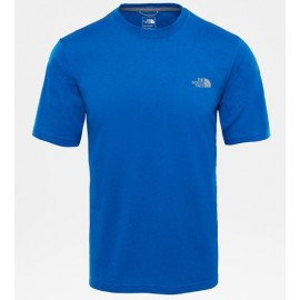 Camiseta M/C The North Face Reaxion Amp Crew azul hombre