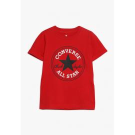 Camiseta Converse CNV1009S Core Chuck Patch rojo niño