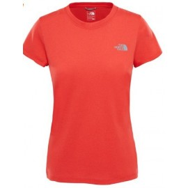 Camiseta The North Face Reaxion Amp Crew coral mujer
