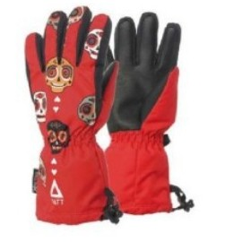 Guantes esquí Matt Awesome Skull Kids Tootex rojo