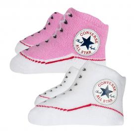 Patucos Converse Pack de 2 rosa bebe