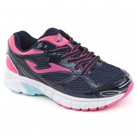 Zapatillas running Joma Vitaly velcro navy/pink niña