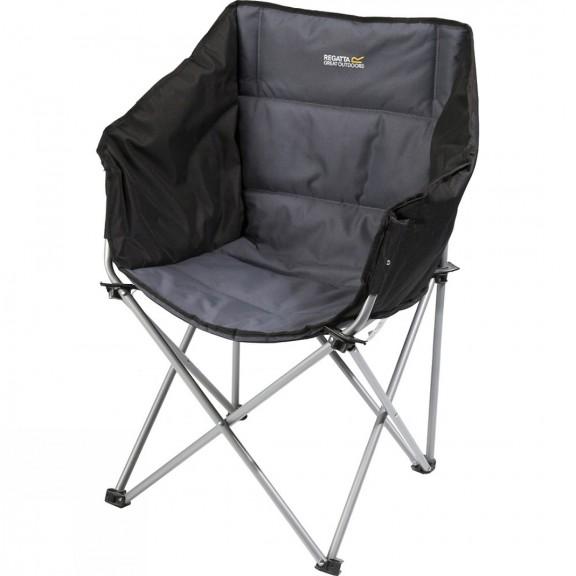 Silla camping Regatta Navas Chair negro/gris