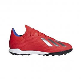 Zapatillas fútbol adidas X 18.3 TF rojo hombre
