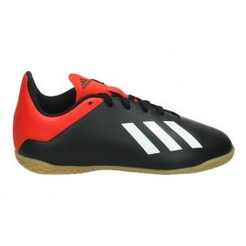 Zapatillas fútbol adidas X 18.4 IN J negra junior