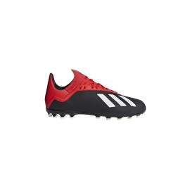 Zapatillas fútbol adidas X 18.3 AG negro junior
