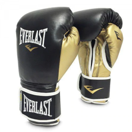 Guantes boxeo Everlast Powerlock training 12oz negro/oro