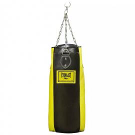 Saco boxeo Everlast 120cm y 32kg EVH3120 negro/amarillo