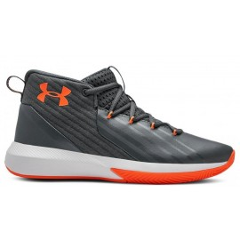 Botas baloncesto Under Armour Lockdown GS gris/naranja jr