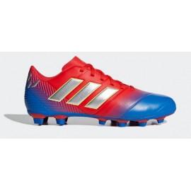 Zapatillas fútbol adidas Nemeziz Messi 18.4 FXG azul/rojo