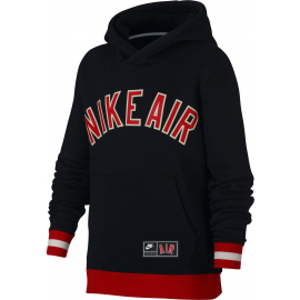Sudadera Nike Air Long-Sleeve Fleece Top negro niño